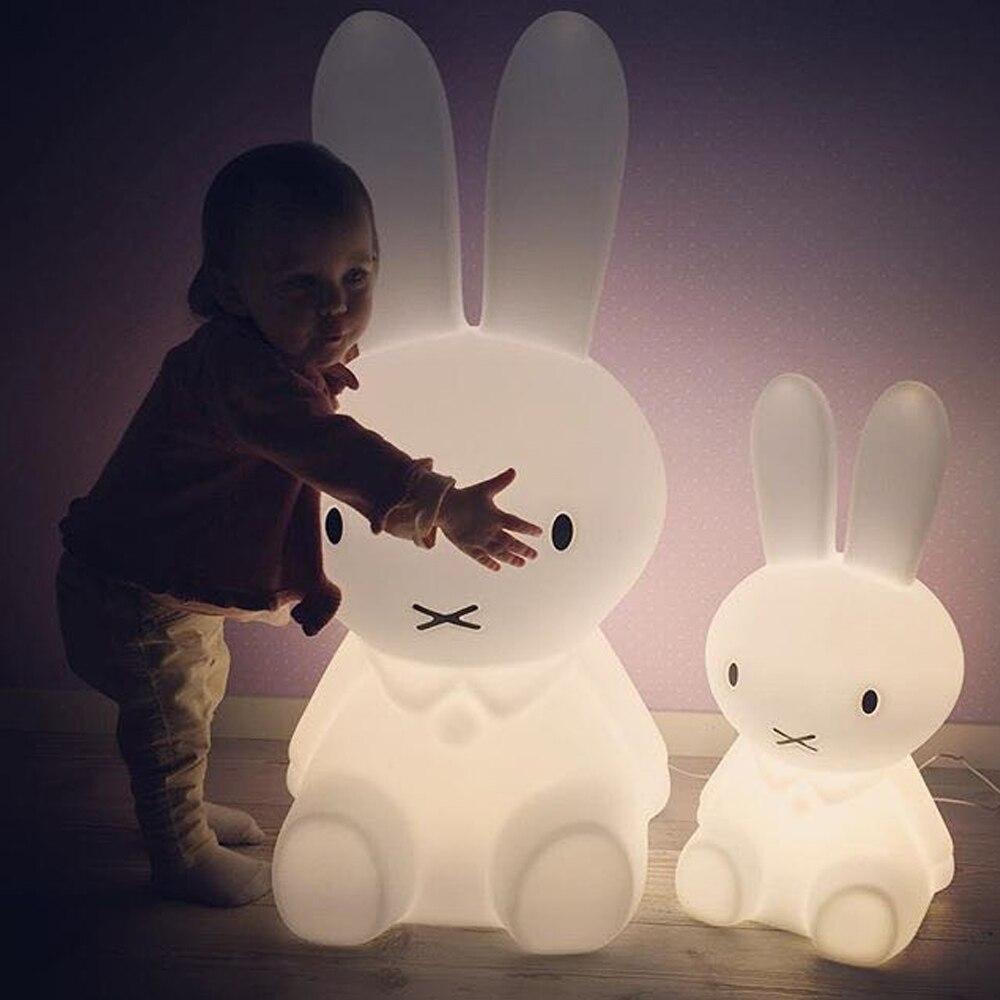 Высота светодио дный 80 см кролик светодиодный ночник лампа Usb зарядка затемнения для маленьких детей подарок животных мультфильм декоратив...