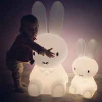 Height 80CM Rabbit Led Night Light Lamp Usb Charge Dimmable For Baby Kids Gift Animal Cartoon Decorative Bedroom Living Room