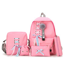 5pcs/set Fashion Backpack Girl School Backpack Mochila Feminina Backpack School Bags For Teenage Girls Backpack SchoolBags Set(China)