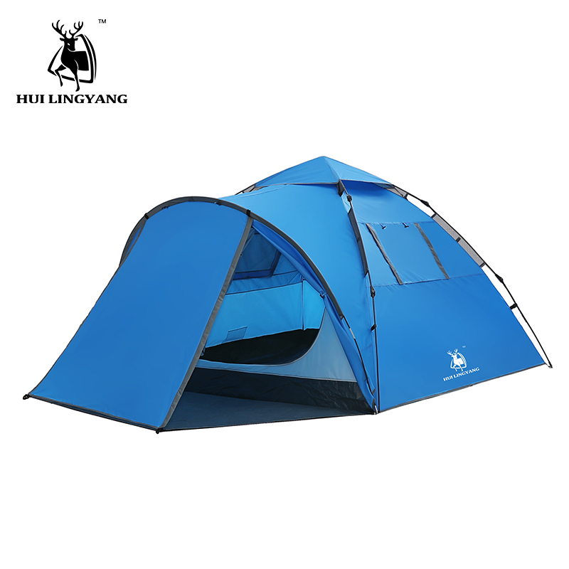 HUI LINGYANG throw tent outdoor automatic tents throwing pop up waterproof camping hiking tent waterproof large family tents  HUI LINGYANG throw tent outdoor automatic tents throwing pop up waterproof camping hiking tent waterproof large family tents