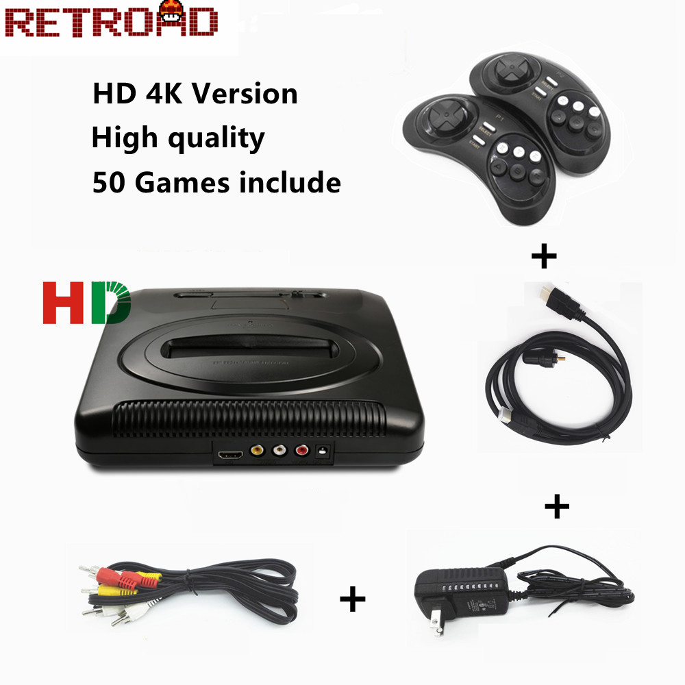 HDMI 16 BIT SEGA MD 2 Video Game Console with US and JP Mode Switch for