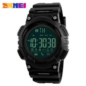 SKMEI Men Sport Smart Watch Waterproof Digital Mens Clock Watches Outdoor Calories Bluetooth Wristwatches Relogio Masculino 1256