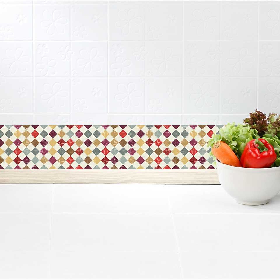 Funlife Self Adhesive Mosaic Wallpaper Borders Decorative Wall Borders Waterproof For Bathroom Kitchen Modern Home Wall Decal Wall Stickers Aliexpress