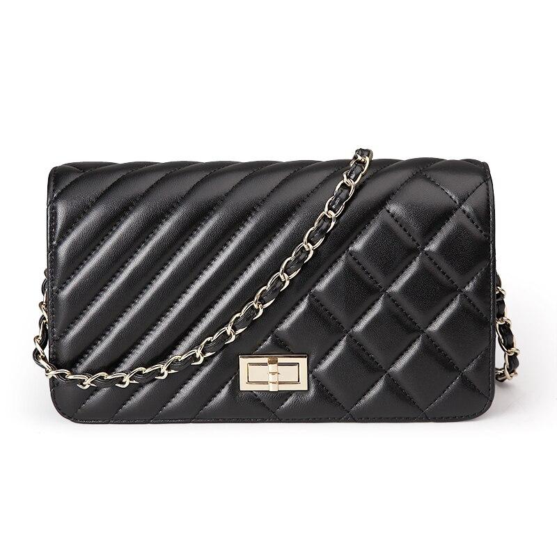 ФОТО  High Quality Genuine Leather women shoulder bag Mini crossbody bag 2016 Brand design women Messenger bags fashion Chain