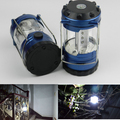 300 Lumens Portable Outdoor Camping Lantern Hiking Tent 12 LED Light Campsite Hanging Lamp Emergency with compass