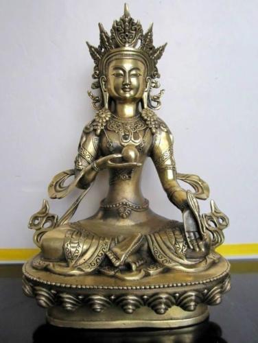 Crafts statue Tibet Buddhism Ksitigarbha Bronze buddha Statue halloweenCrafts statue Tibet Buddhism Ksitigarbha Bronze buddha Statue halloween