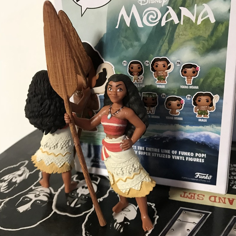 Wholesale Original Garage Kit Classic Toy Moana Princess Mini Doll Cute PVC Action Figure Collectible Model Loose Toy Kids Gifts