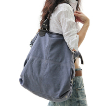 2018 Unisex Vintage Canvas Shoulder Bag Women Handbags Ladies Crossody Messenger Large Capacity Casual Leisure Tote