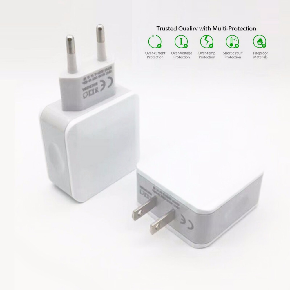 2.5A fast QI cell mobile phone charger For iphone apple fast 2 usb wall charger EU US Tablet For xiaomi  ipad LG Charger
