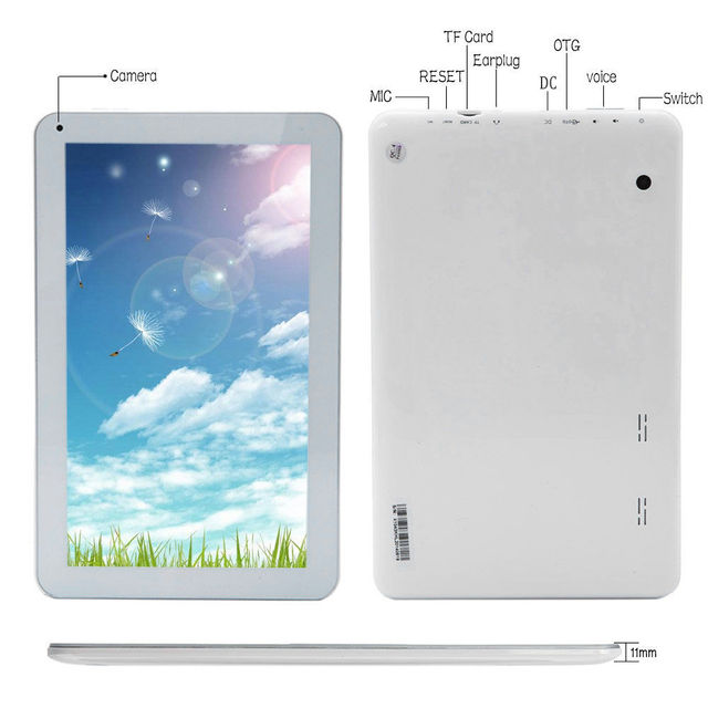 New iRULU eXpro X1Plus 10.1» Android 5.1 Tablet Quad Core 1G/8G Tablet PC Dual Cam Bluetooth WiFi Google Play w/Keyboard Case