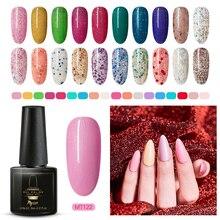 цена на Mtssii 6ml Color Nail Gel Polish UV Led Gel Nail Art Varnish Hybrid Soak Off Gel Lacquer Nail Paint Glitter Gel Manicure Set
