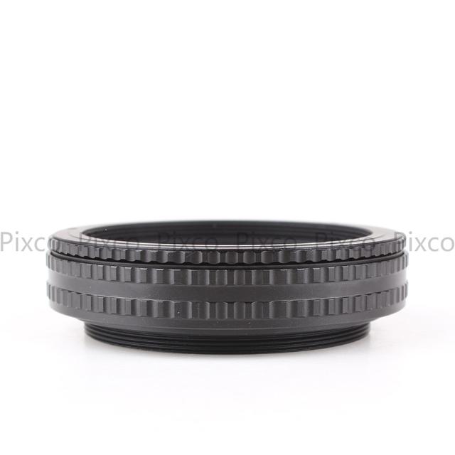 Pixco M65 para M65 Adaptador de Montagem Da Lente Ajustável Focando Helicóide Tubo Macro-17mm a 31mm