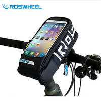 Roswheel Waterproof Touchscreen Bicycle Bag Handlebar Frame Front Tube Bike Bag Mtb Road Cycling Bag Use