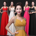 Hot selling Royal Chiffon Evening Dress 2016 for special occasion cheap long prom dress for wedding party Vestido de festa