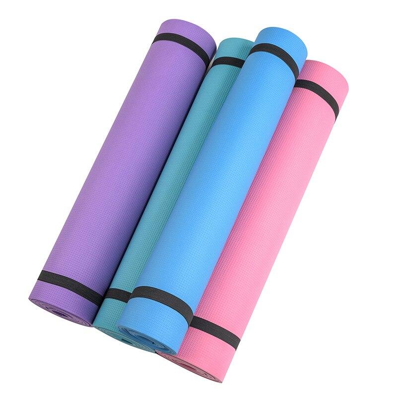 Simanfei 2019 nova chegada yoga tapetes de fitness três peças de fitness insípido ambiental 4 cores ginásio tapetes de ginástica 173 * 60 * 0.4 centímetros