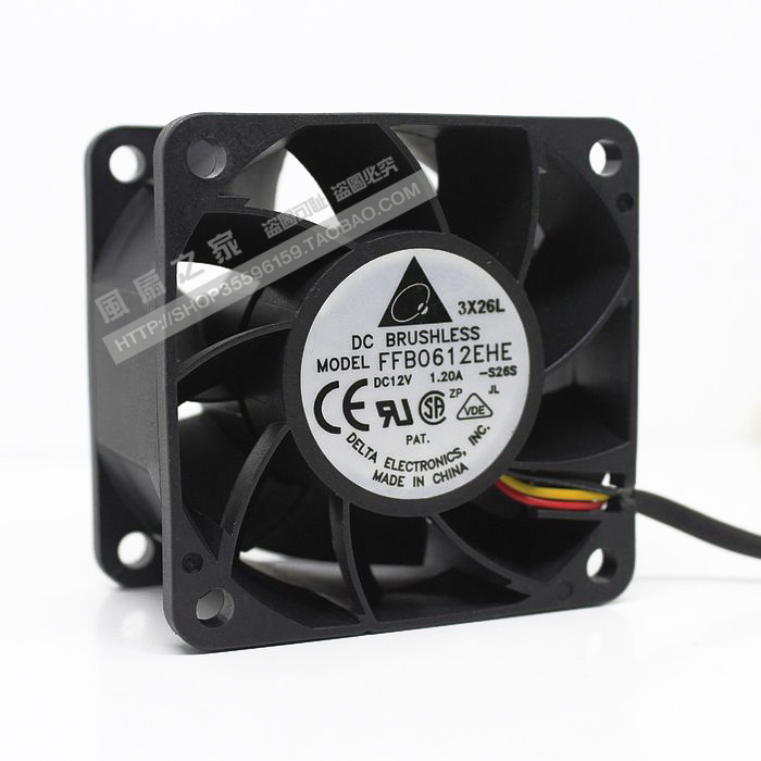 brand new DELTA 6cmFFB0612EHE 12V 1.2A 3PIN 2U Server cooling fan