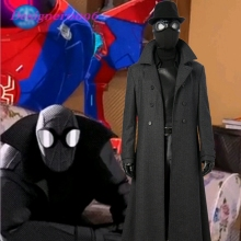 Spider-Man: Into the Spider-Verse Spider-Man Noir Cosplay Suit Black Cool Cos Set