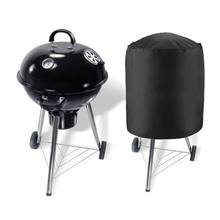 US Black Round BBQ Grill Covers Gas Barbecue Waterproof Outdoor Protective Cover(China)