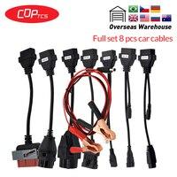 OBD2 Diagnotic Kabels Cdp Auto/Truck Kabels Met Volledige Set 8 Auto Kabels Tcs Pro OBD2 Obdii Kabels Voor mvd/Multidiag Pro +