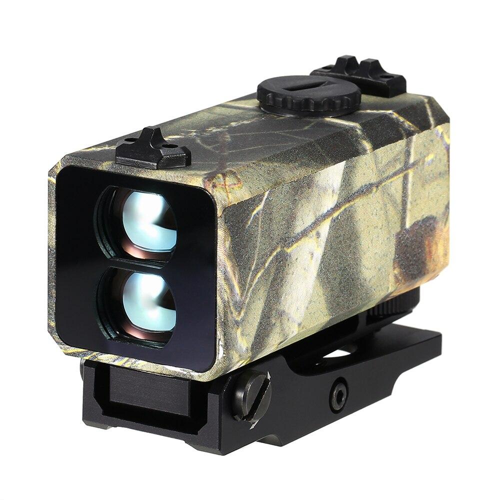 ZIYOUHU Mini montura de buscador de alcance láser en telémetro de Rifle para caza al aire libre medidor de velocidad de distancia 700m Real- tiempo