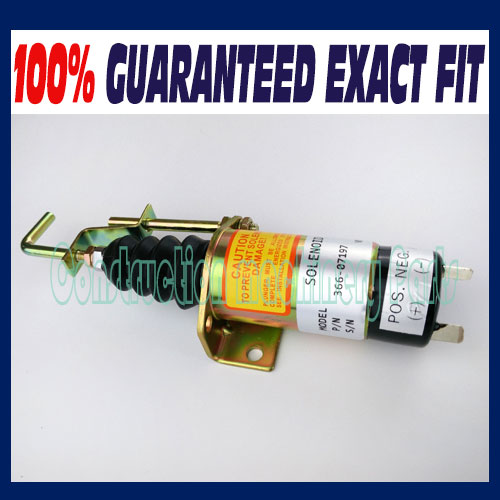 Fuel Shut down solenoid ,Diesel Stop Solenoid 366-07197 Synchro Start 1502 12V SA-3405-T,SA-3405T fit for synchro start electric fuel shut down solenoid 1504 12c2u1b1s1 12 vdc