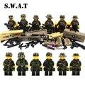 1 Unidades Marvel avengers superhéroe star wars Ciudad militar swat counter strike kits de edificio modelo bloques ladrillos