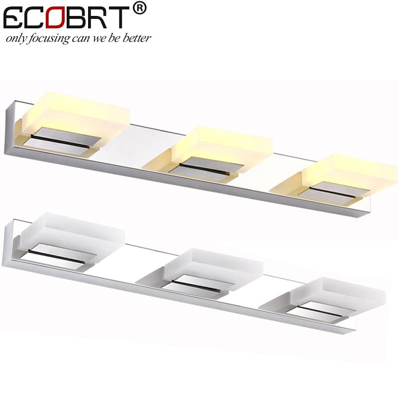 ФОТО Hot Sell  9W LED bathroom mirror lighting,Cool white/ warm white,stainless steel modern Acrylic mirror lights 3-lights