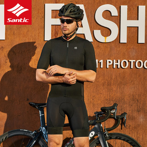 Image 5 - 2019 Santic hommes cyclisme cuissard professionnel course équipe pantalon serré avec respirant italie élastique tissu Gel rembourré Shorts