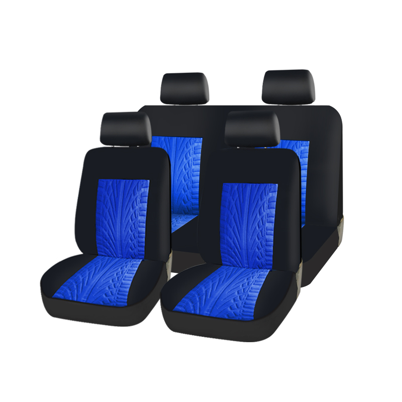 ROWNFUR Universal Car Seat Cover set Fit Most Cars with Tire Track Detail Car Styling Car Seat Protector 3 colors polyester