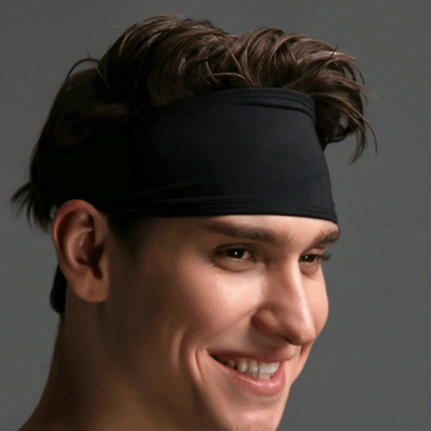 1pc High Quality Men Sports Sweatband Women Yoga Hair Band Running Basketball Gym Fitness Workout Head Sweat Band yoga gym sport stretch headband womens anti sweat hairband cotton men women sweatband running outdoor fitness