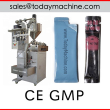 High Speed Liquid Honey Stick Packaging Filling Sealing Ice Pop Candy 3 Sides Lolly Packing Machine
