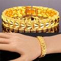 U7 Valentines Gift For Husband Bracelet Men Jewelry Yellow Gold Plated Love Heart Shape Mens Bracelets H181