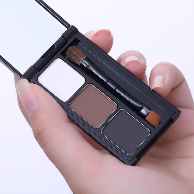 BONNIE CHOICE 2 Color Eyebrow Enhancer Pro Makeup Eyebrows powder Long-lasting Waterproof With Brush Mirror Cosmetic Kits 5