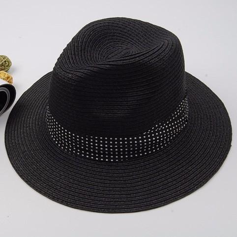 2015-New-Design-Straw-Hip-Hop-Jazz-Chapeau-Dot-Ribbon-Summer-Style-Sun-Beach-Women-Cowboy
