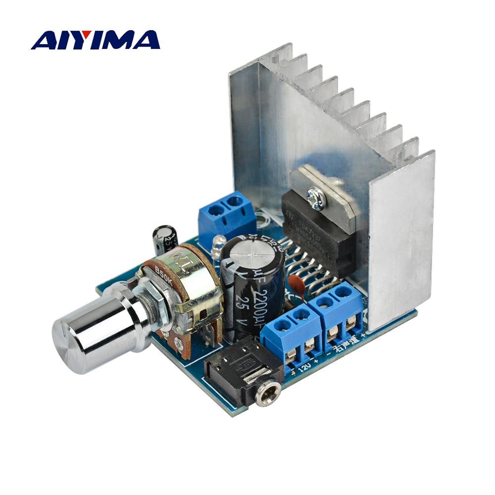 AIYIMA 1Pc 2.0 Stereo Amplificador TDA7297 Amplifiers Audio Dual Channel 15W+15W Amplifier Board DIY For Home Theater aiyima 12v tda7297 audio amplifier board amplificador class ab stereo dual channel amplifier board 15w 15w
