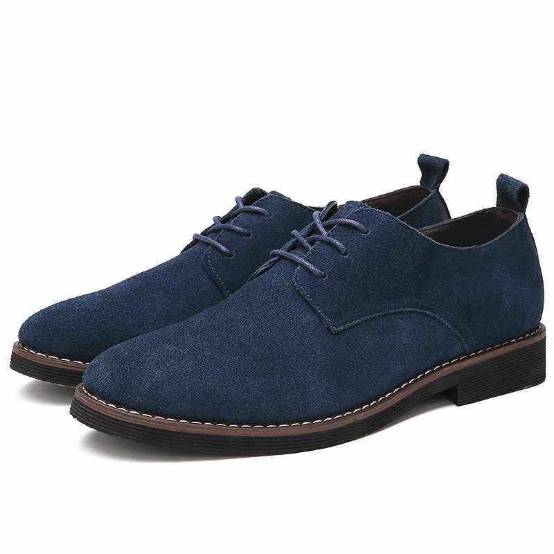 portant doux grande Oxfords Misalwa richelieu hommes taille 2019 grande hommes chaussures noir marron cuir daim en loisirs chaussures décontractées lJF1cTK3