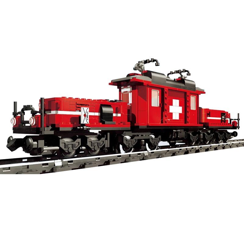 rl 21011 02 WAZ Compatible Legoe Technic 10183 Lepin 21011 1130pcs Medical Changing Train Set building blocks Figure Bricks toy for children