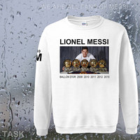 Hoodies Men Lionel Messi Leo M10 Argentina Star Sweatshirt Polo Sweat Suit Foot Ball Player Streetwear