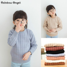 New Winter Girls Sweater Boys and Girls Pullovers Children Clothes Shirt Toddler Girls Knitwear Children's Sweaters Tops Coat цены онлайн