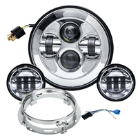 7 Inch 80W Led Headlight Kit 4.5Inch 60W Passing Lamp for Harley