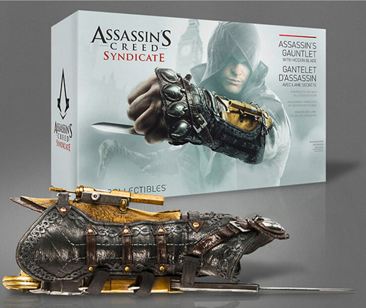 Assassin's Creed Action Figures Weapon Syndicate Gauntlet With Hidden Blace 1:1 PVC Anime Game Assassin Model Toys