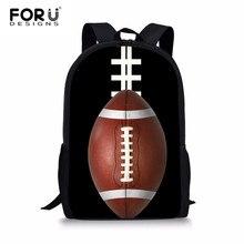 FORUDESIGNS Ball Printed Schoolbags Primary School Boys Backpack Cool Black Bag Kids Shoulder Bags Student Book Rucksack