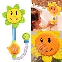 Color Random Baby Bath Toys Sunflower Shower Faucet Bath Learning Gifts Bathroom Bathtub Toys Play Sets