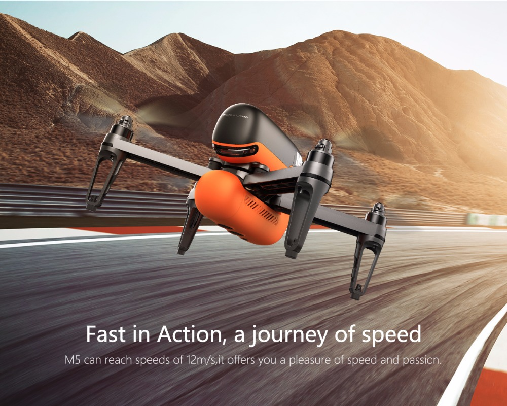 WINGSLAND M5 Smart Portable Drone FPV UAV 4axis Aircraft Quadcopter with APP Control + R6 Remote Controller High Speed RC Toy