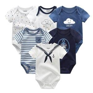 Image 5 - Pasgeboren baby Kleding Sets 100% Katoen Zomer baby rompertjes Korte mouw Bodysuit Babykleertjes Ropa bebe Baby Boy Kleding