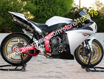 For 2009 2010 2011 YZF-R1 YZFR1 09 10 11 YZFR1000 YZF R1 White Black Motorcycle Fairings (Injection molding)