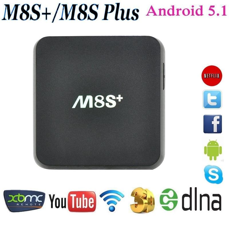 Genuine M8S Plus/M8S+ TV Box Android 5.1 Amlogic S812 Quad Core 2.4G&5G Wifi 2GB/8GB H.265 HEVC Gigabit Lan KODI Set Top Box