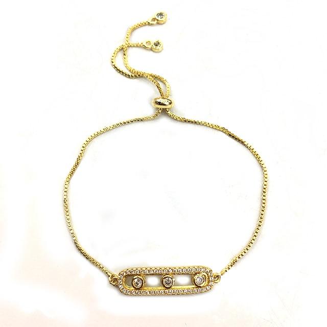 Handwoven Bead Crystal Pendant Bracelet Metal Beaded Stretch Leather Shambhala Bracelets Brand Logo Free Shipping