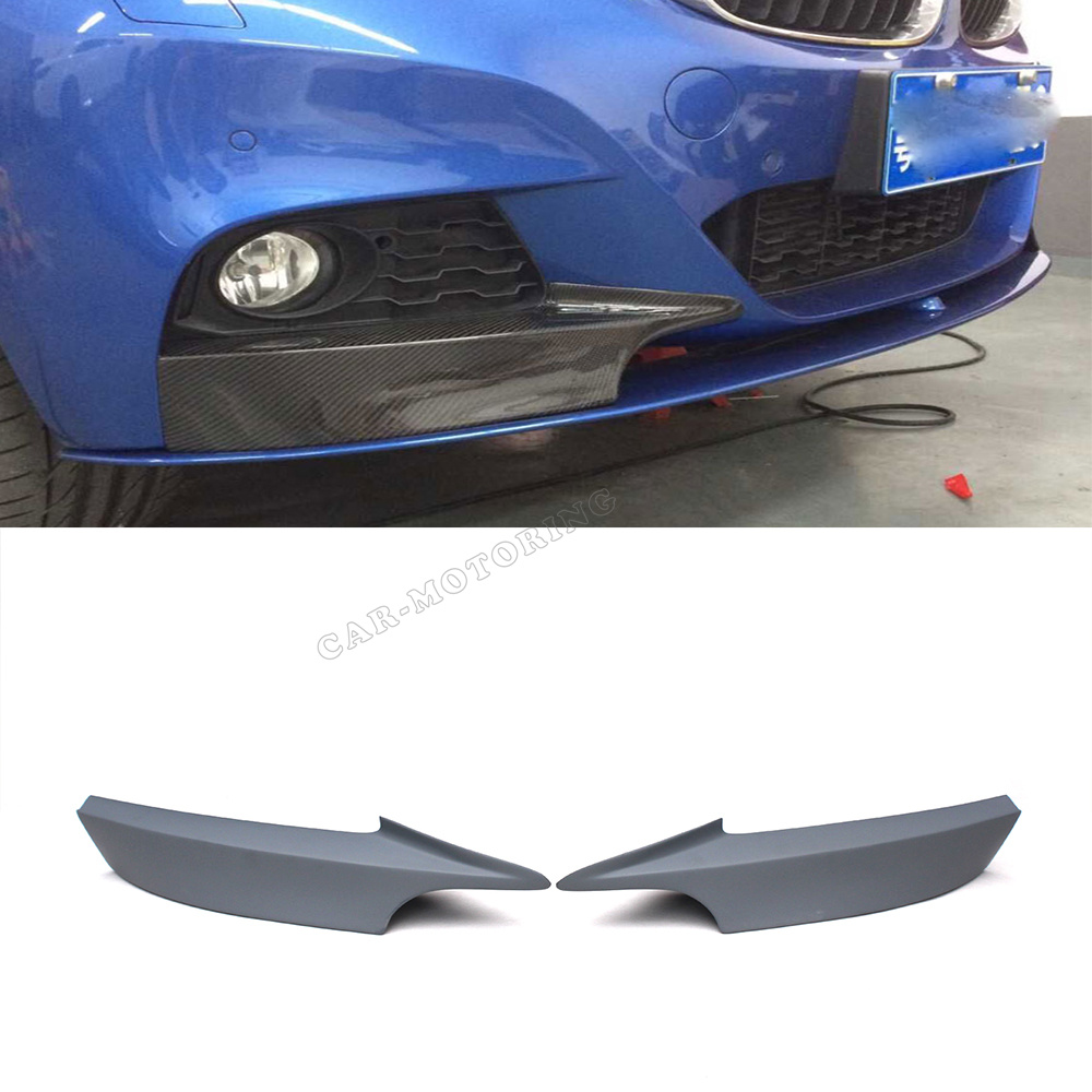 ФОТО 3 Series F34 GT Car-Styling FRP Auto Front Lip Splitter Aprons For BMW F34 GT M tech M sport Bumper Only 2013UP