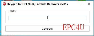 DPF EGR Lambda Remover [05 2017] software + keygen+INSTALL video guide